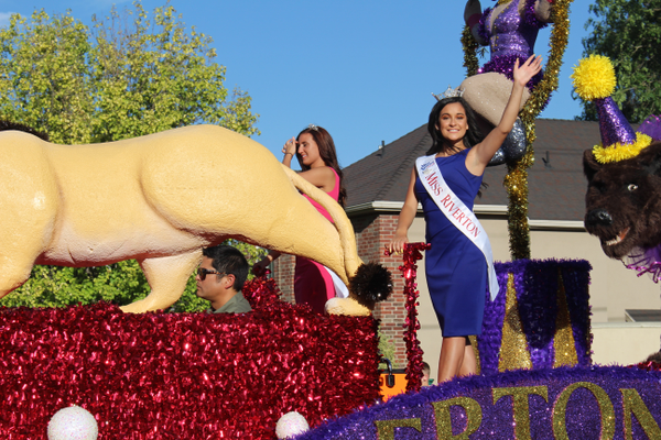 Miss Riverton, Gabrielle Hindoian, waves to the crowd during the parade. (Travis Barton/City Journals)