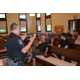 Mario Raimato an officer with the Southern Chester County Regional Police Department addressed an audience about gun safety on July 26