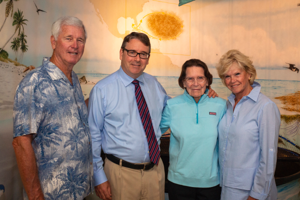Barry Kelleher, Conservancy President and CEO Rob Moher, Ruth Bawden and Conservancy supporter Barbara Chur.