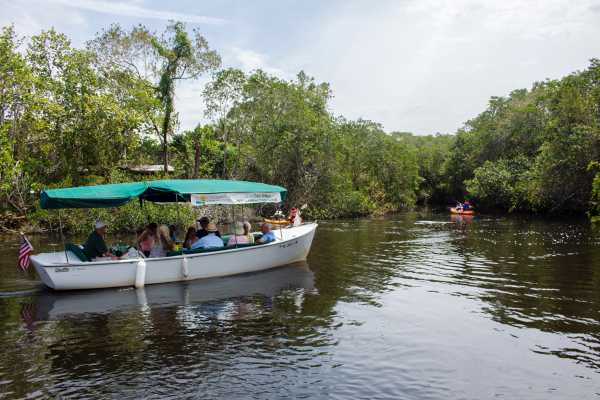 The Conservancy of Southwest Florida Nature Center is open Monday – Saturday 9:30 a.m. – 4:30 p.m. Admission is $14.95 for adults, $9.95 for kids. Join as a member and get in free all year.