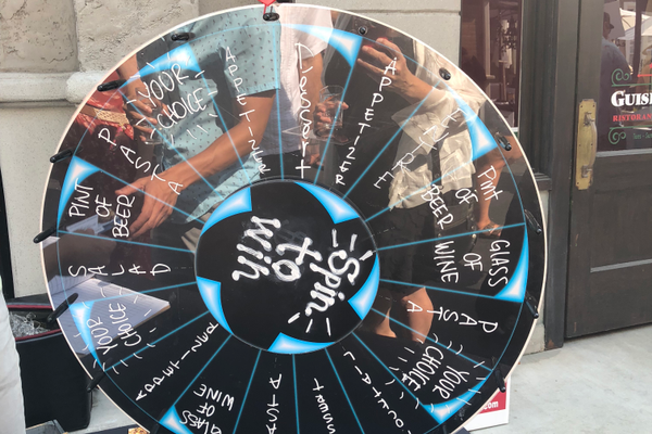 Spin the wheel at Bettolino Restaurant