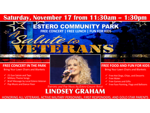 Salute to Veterans in Estero November 17 - start Nov 17 2018 1130AM