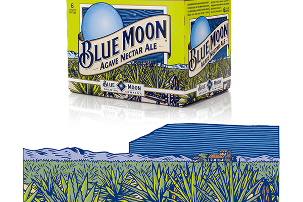 Label art for Blue Moon Agave Nectar Ale