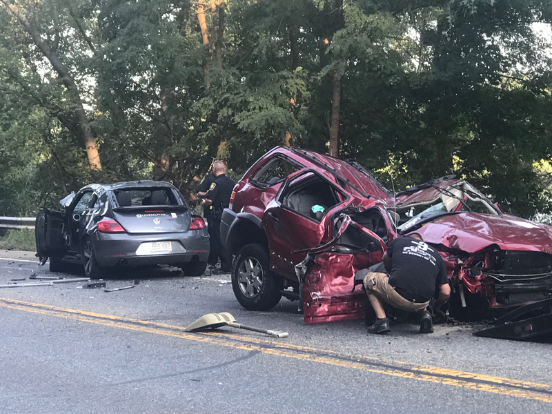 Video Multiple Injuries Reported In Three Car Accident On Route 110