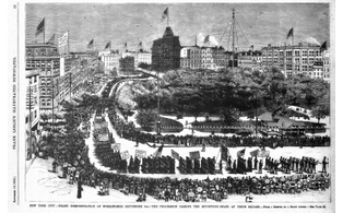 First united states labor day parade september 5 1882 in new york city