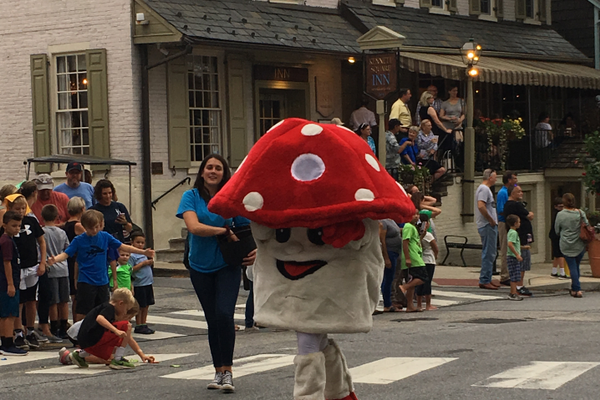 The mascot of the festival, Fun Gus, made an appearance at the parade.