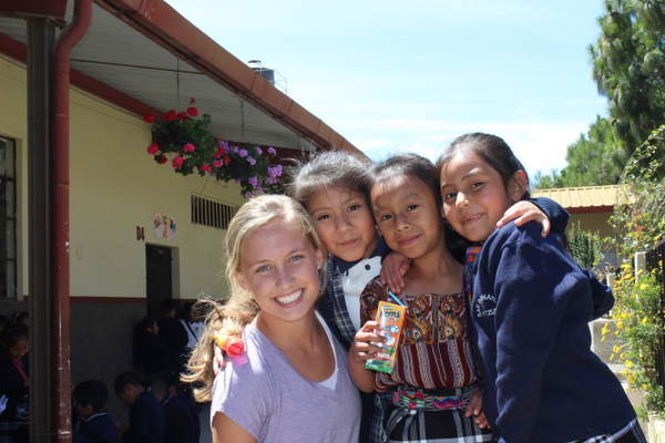 Senior Catherine Hassett (left), on a Mission trip.