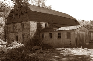 Medium barn sepia