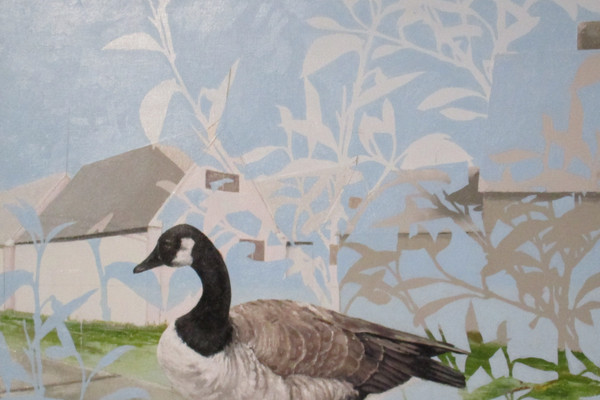 'Goose With Forsythia' by Jeremy McGirl.