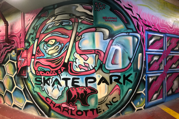 """A 3D piece I did at Oso Skatepark in Charlotte."""