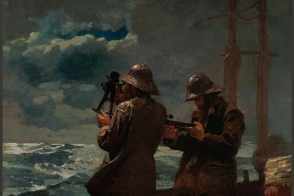 'Eight Bells' (1886), oil on canvas, Addison Gallery of American Art.
