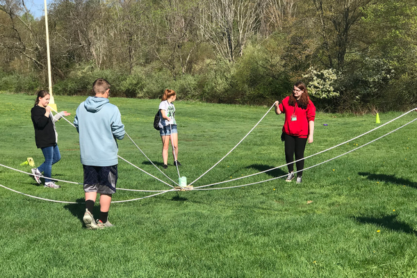 Gateway Middle School students participating in programming offered by Allegheny County Parks.