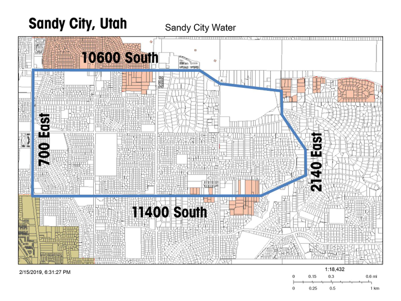 Sandy city advises residents to flush water after fluoride ... on 15 freeway map, i 15 california map, i 15 idaho map, i-15 south map, i 15 mile marker map,