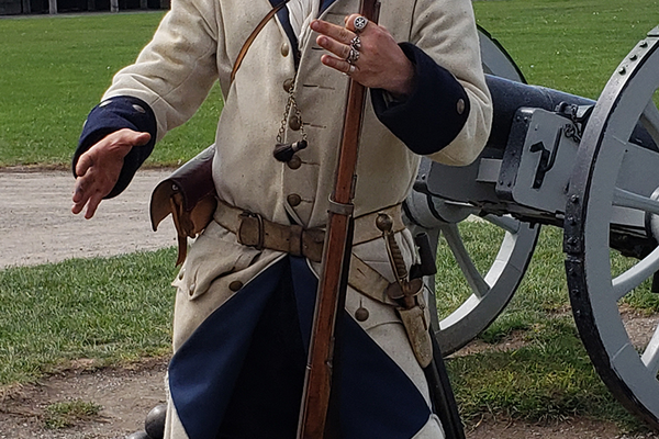 You can watch  re-enactors at Old Fort Niagara do everything from firing muskets to loading cannons. Photo by Vanessa Orr