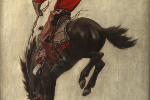 Saturday Evening Post cover ('Bucking Bronco'), 1903. Autry Museum of the American West, Los Angeles.