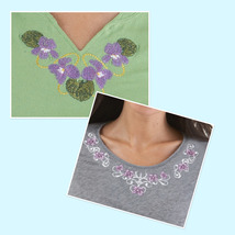 Medium necklines