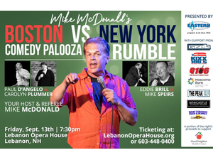 Comedy Palooze Rumble - Boston versus New York - start Sep 13 2019 0730PM