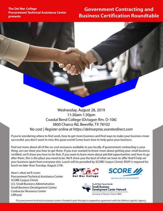 8.28.19 20government 20contracting 20and 20business 20certification 20roundtable 20flyer