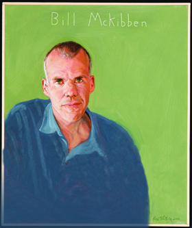 Bill McKibben portrait by Robert Shetterly