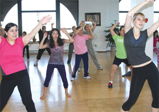 Zumba attracts many in the community to enjoy exercise.