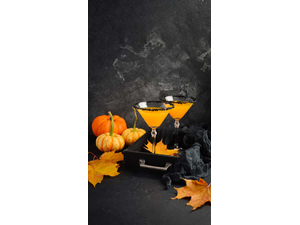 Cocktail Recipe Pumpkintini With Graham Cracker Rim
