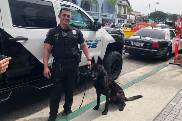 MBPD Officer Olivares and MBPD K-9 Nero