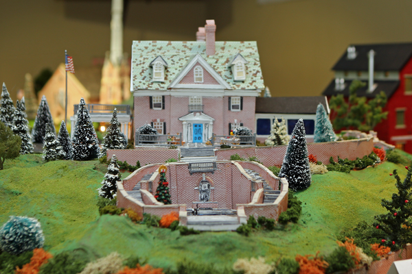 Ware resident Annette Pennington, who had experience making dollhouses, created the model of the Mare Mansion.