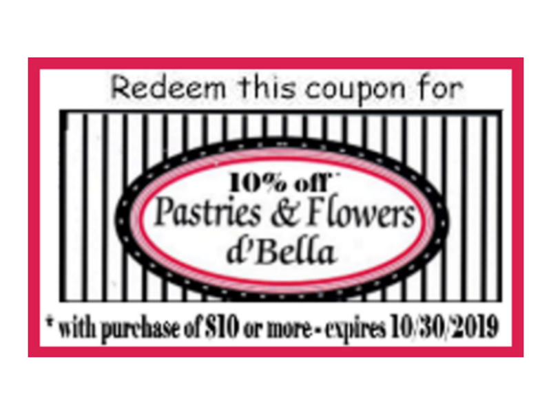 For That Someone Special 10 Off Pastries Flowers D Bella