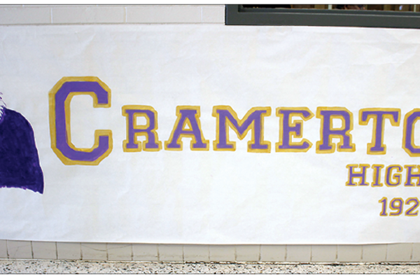 The Cramerton High poster also put up in the South Point hallway last week.