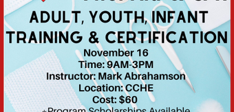 November 20cpr 20  20first 20aid 20adult  20youth  20infant 20training 20  20certification