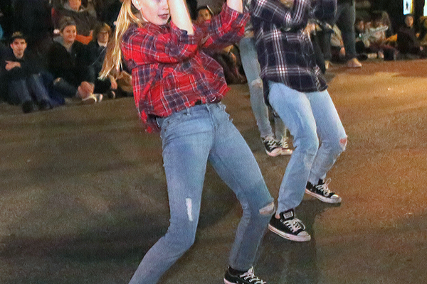 KMC dancers wore plaid shirts to carry out a country theme.