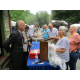Longtime appraiser Lark E Mason Jr meets guests at an Antiques Roadshow taping at Winterthur on June 18 Photo by John Chambless
