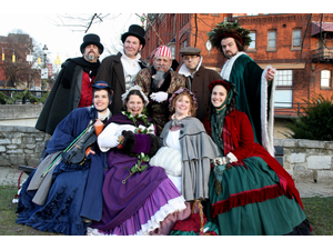 Dickens troupe for Bellefonte Victorian Christmas Photo by Central PA CVB
