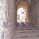 The Via Dolorosa in the walled city of Jerusalem.