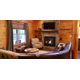 You can warm up while enjoying stunning views at the Rustic Ridge Retreat just one of many impressive accommodations
