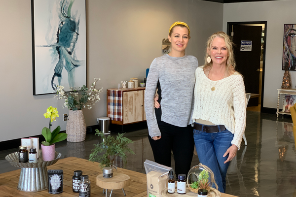 Lisa Mottolo (left) and Marie Finger of Wild Organics CBD and Wellness