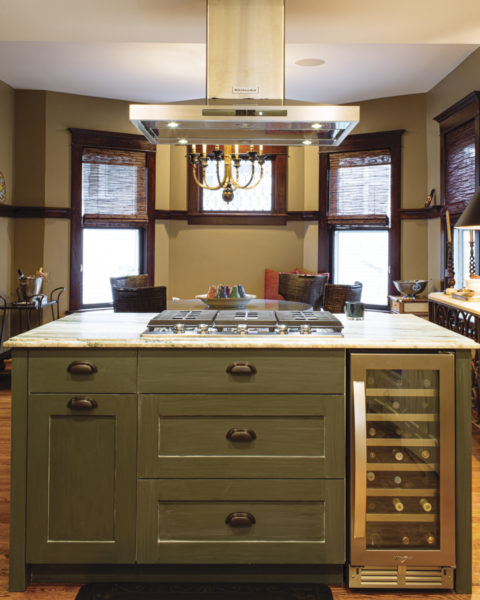 kitchen island with wine cooler Dundee