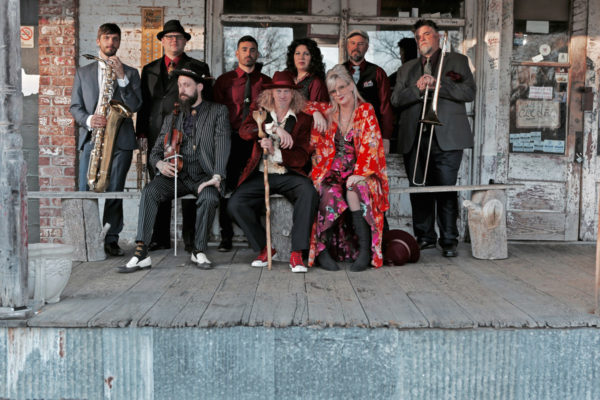 Squirrel-Nut-Zippers band on porch