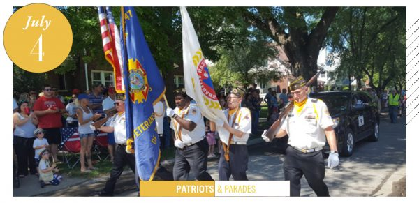 veterans marching, Field Club Parade Fourth of July Highlights