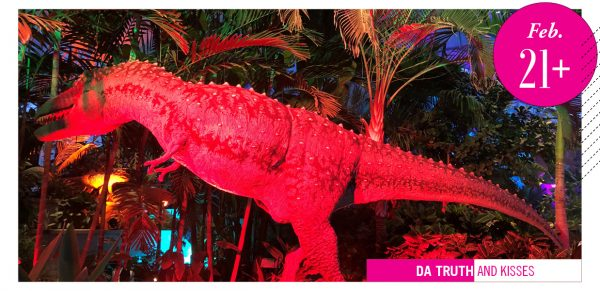Red daspletosaur from Dino Uproar at Lauritzen Gardens