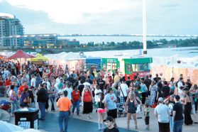 Food Trucks abound at the RIverfront during Taste.