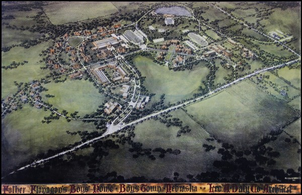 Leo a Daly's original rendering for Boys Town (1922).