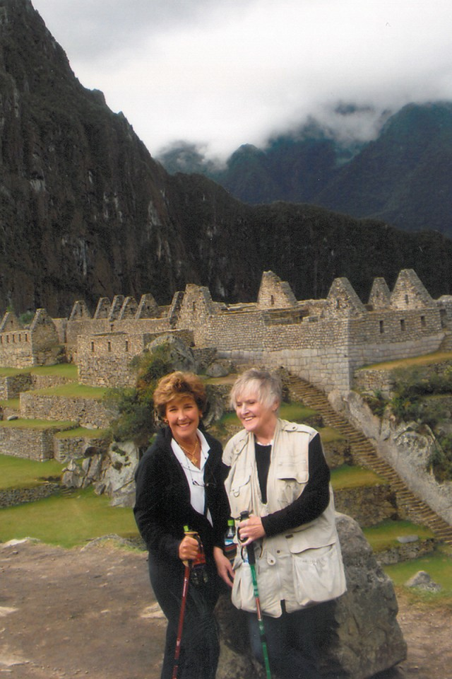 Ongert with a friend in Machu Picchu. Photo provided by Sharon Ongert.