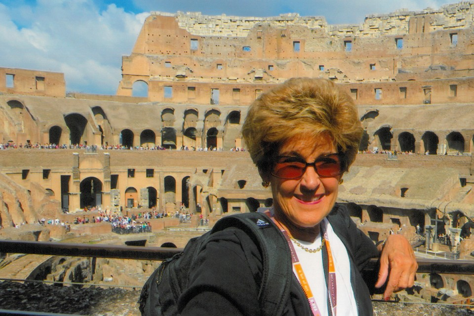 Ongert at the Colosseum. Photo provided by Sharon Ongert.