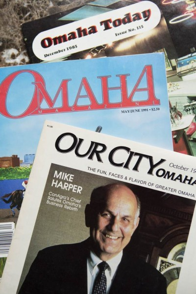 Magazines pulled from Omaha Publications' archives.