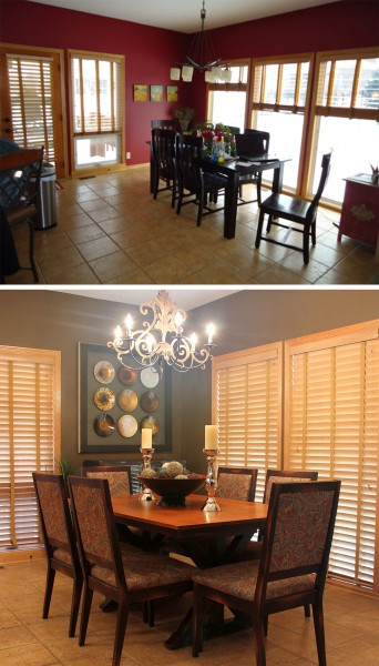 Before & After of the Dinette.
