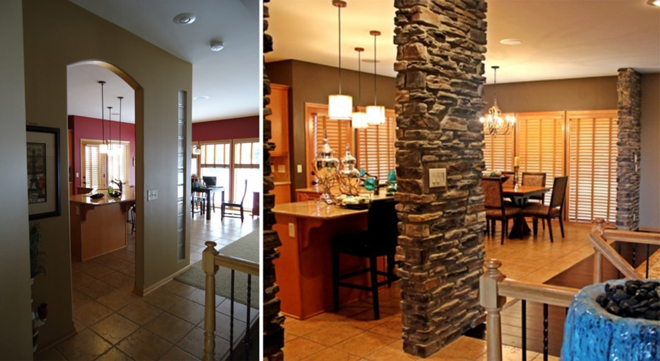 Before & After of the Foyer.