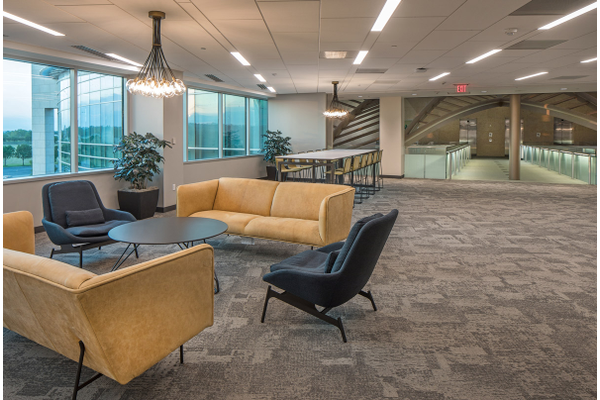 lounge area in Gallup's Omaha office