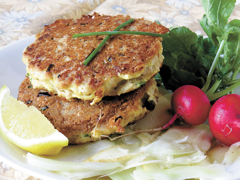 Salmon Cakes with Fennel and Parsnips Recipe