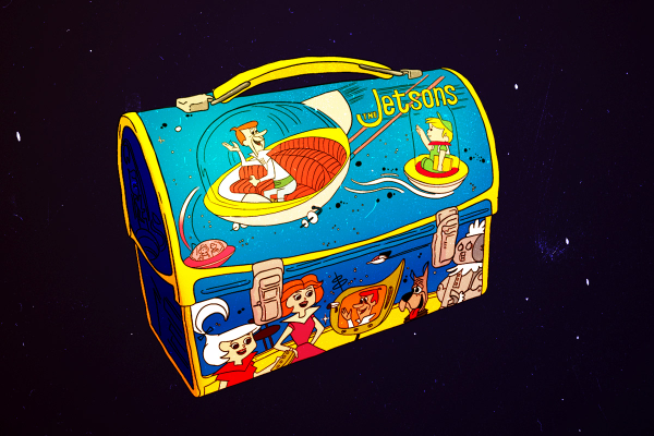 illustration of Jetsons lunch box